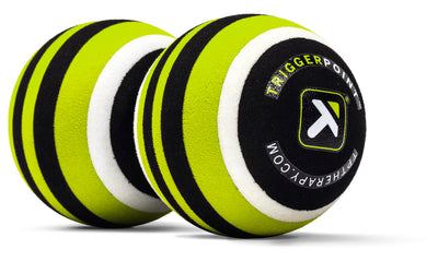 TriggerPoint MB2 Roller Black yellow white end view