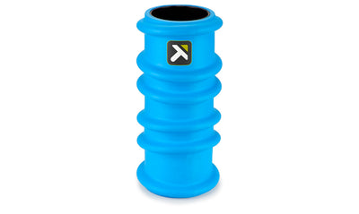 Triggerpoint charge foam roller blue standing view