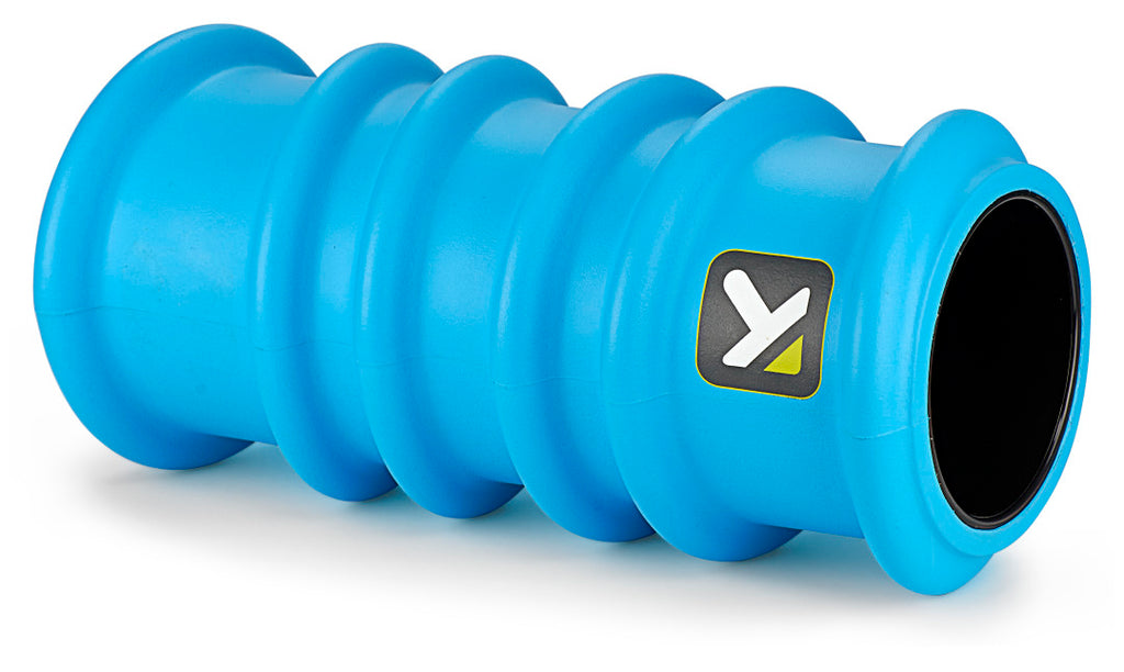 Triggerpoint charge foam roller blue laying down view