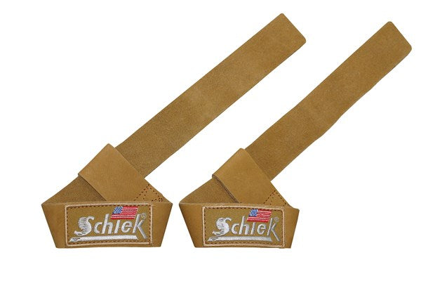 Schiek Leather Lifting Straps - Tan