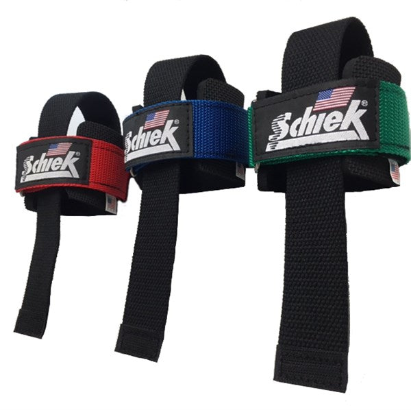 Schiek Powerlifting Straps - Red