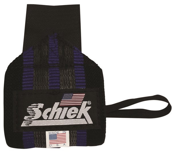 "Schiek Heavy Duty Wrist Wraps 18"" - Black / Blue"