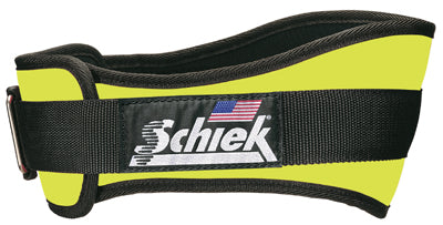 Schiek 2004 Weight Lifting Belt - Neon Yellow