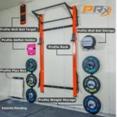 PRX Profile Racks Pro 3″ x 3″ - Folding rack Orange Simpsons Fitness Supply