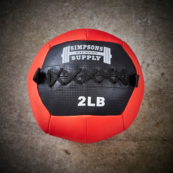 Simpsons Fitness Supply 2lb medicine ball wall ball red and black