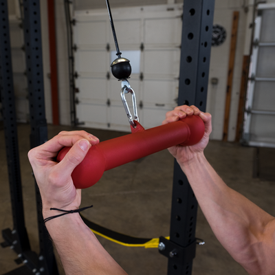 Red Dog Bone grip reverse grip pull downs Simpsons Fitness Supply Colorado