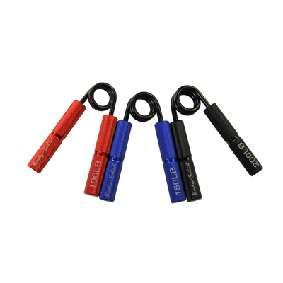 grip strength trainers red, blue and black spring grip trainers body solid simpsons fitness supply