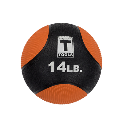 14lb medicine ball orange and black training ball body solid garage gym Simpsons Fitness Supply