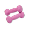 Body Solid Neoprene 1lb pair pink Dumbbells Simpsons Fitness Supply