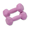 Body Solid Neoprene 2lb pair pink Dumbbells Simpsons Fitness Supply