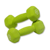 Body Solid Neoprene 3lb pair green Dumbbells Simpsons Fitness Supply