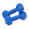 Body Solid Neoprene 5lb pair blue Dumbbells Simpsons Fitness Supply