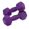 Body Solid Neoprene 7lb pair purple Dumbbells Simpsons Fitness Supply