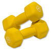 Body Solid Neoprene 9lb pair yellow Dumbbells Simpsons Fitness Supply