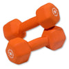 Body Solid Neoprene 10lb pair orange Dumbbells Simpsons Fitness Supply