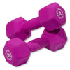 Body Solid Neoprene 12lb pair pink Dumbbells Simpsons Fitness Supply