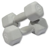 Body Solid Neoprene 15lb pair grey Dumbbells Simpsons Fitness Supply