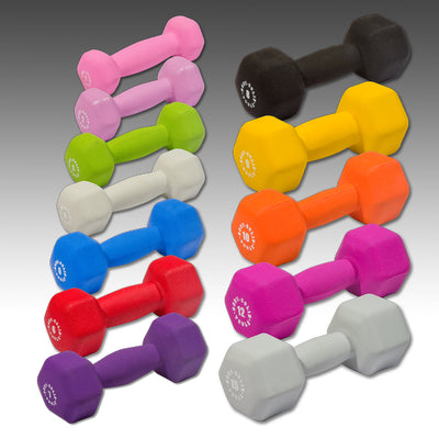 Body Solid Neoprene 12 pair Color Dumbbells