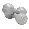 Body Solid Vinyl dumbbells 15lb grey Simpsons Fitness Supply