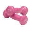 Body Solid Vinyl dumbbells 1 lb pink Simpsons Fitness Supply
