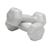 Body Solid Vinyl dumbbells 4lb grey Simpsons Fitness Supply