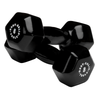 Body Solid Vinyl dumbbells 8lb black Simpsons Fitness Supply