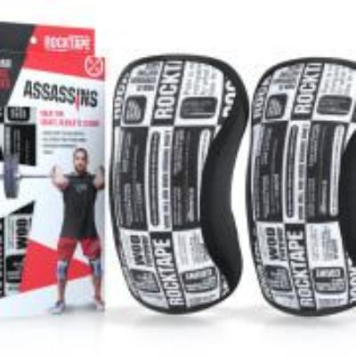 Rock Tape Assassins Knee Sleeves - Manifesto pattern - Simpsons Fitness Supply