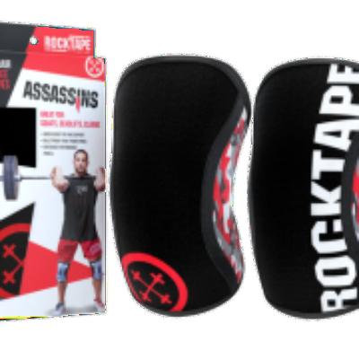 Rock Tape Assassins Knee Sleeves - Rocktape red - Simpsons Fitness Supply