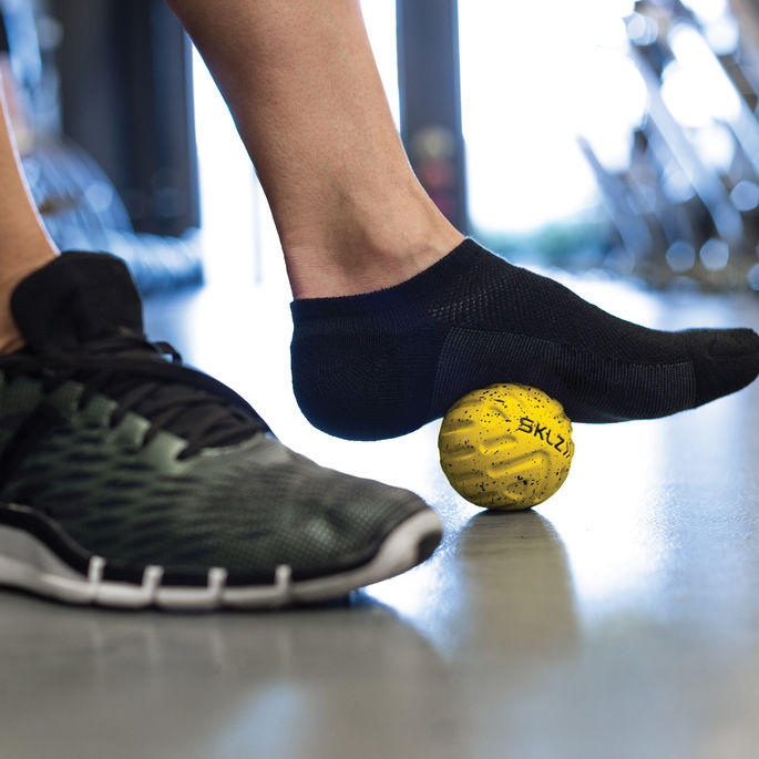 SKLZ Foot Massage Ball - In Use