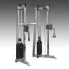 Body-Solid GDCC210 functional trainer dual weight stacks pull-up bar silver and black