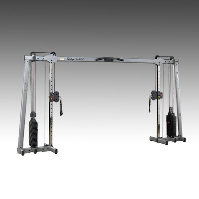 Body-Solid GDCC250 cable crossover dual stack machine black and silver simpsons fitness supply