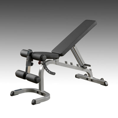 Body-Solid GFID31 adjustable bench flat incline decline black & silver