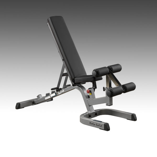 Body-Solid GFID71 adjustable flat incline decline bench black silver