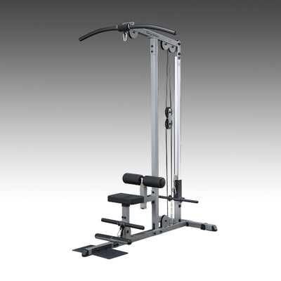 Body-Solid GLM83 Pro Lat Machine Silver & black simpsons fitness supply