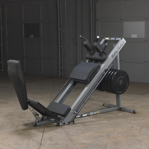 body solid leg press hack squat grey and black simpsons fitness supply denver