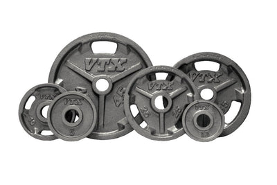 Troy Barbell VTX Grip plate set grey Simpsons Fitness Supply