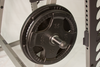olympic plate storage on body solid squat rack