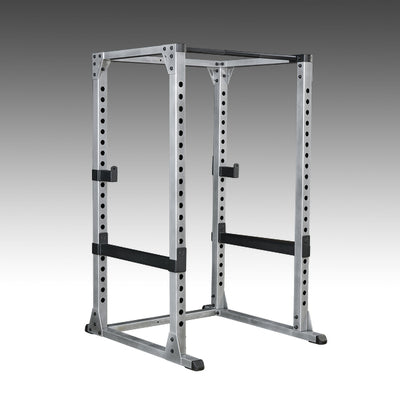 Body solid pro power rack black and silver with spotter arms simpsons fitness supply