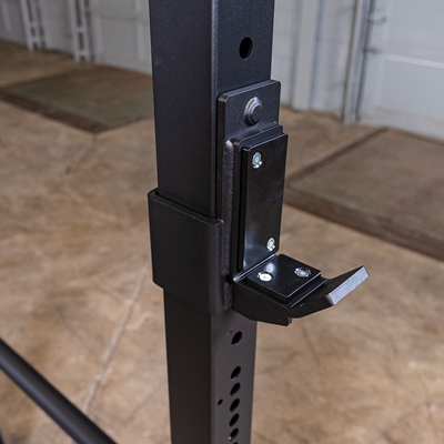 body solid j hooks on black power rack  ppr400
