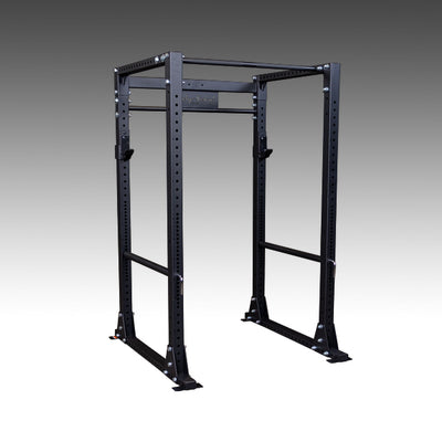 Body solid GPR400 power rack black with spotter arms and pullup bar