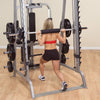 Body Solid GS348Q smith machine black and silver squats simpsons fitness supply