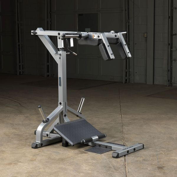 Body-Solid GSCL360 Leverage Squat Calf Machine Silver and black side view