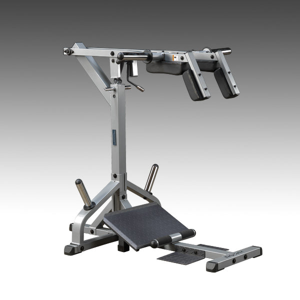 Body-Solid GSCL360 Leverage Squat Calf Machine Silver and black