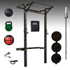 PRX pro mens garage gym package, barbell, bumper plates, red wall ball