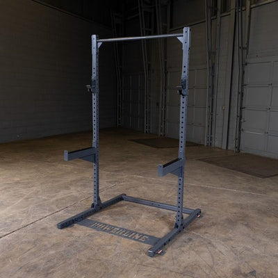 Powerline ppr500 half rack with j hooks and safety spotter arms