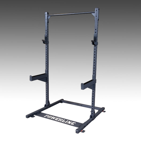 Powerline half rack ppr500 black with pullup bar and safety spotter arms