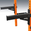 prx performance pro spotter arms black on orange rack