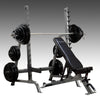 Body Solid SDiB370 Squat Rack and commercial adjustable bench black and silver