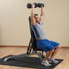 Body-Solid SFID325 adjustable bench black and silver flat incline bench 90 degree shoulder press