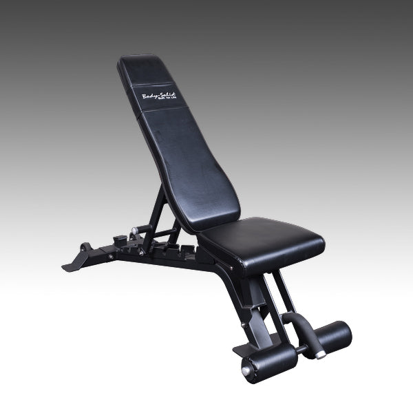 Body-Solid SFID425 adjustable bench flat incline decline black and silver